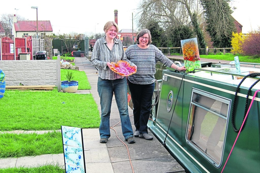 Pam Berridge and Kate Webley at the new mooring on the Chesterfield Canal at Worksop for their narrowboat Tallulah II and The Pod.PHOTOS: JANET RICHARDSON