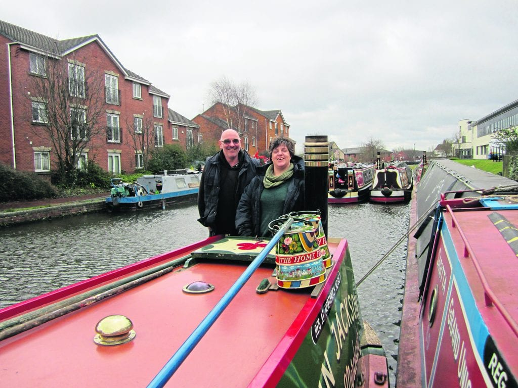 John and Jenny Jackson on board Roach at Tipton. PHOTOS: JULIE WEBB