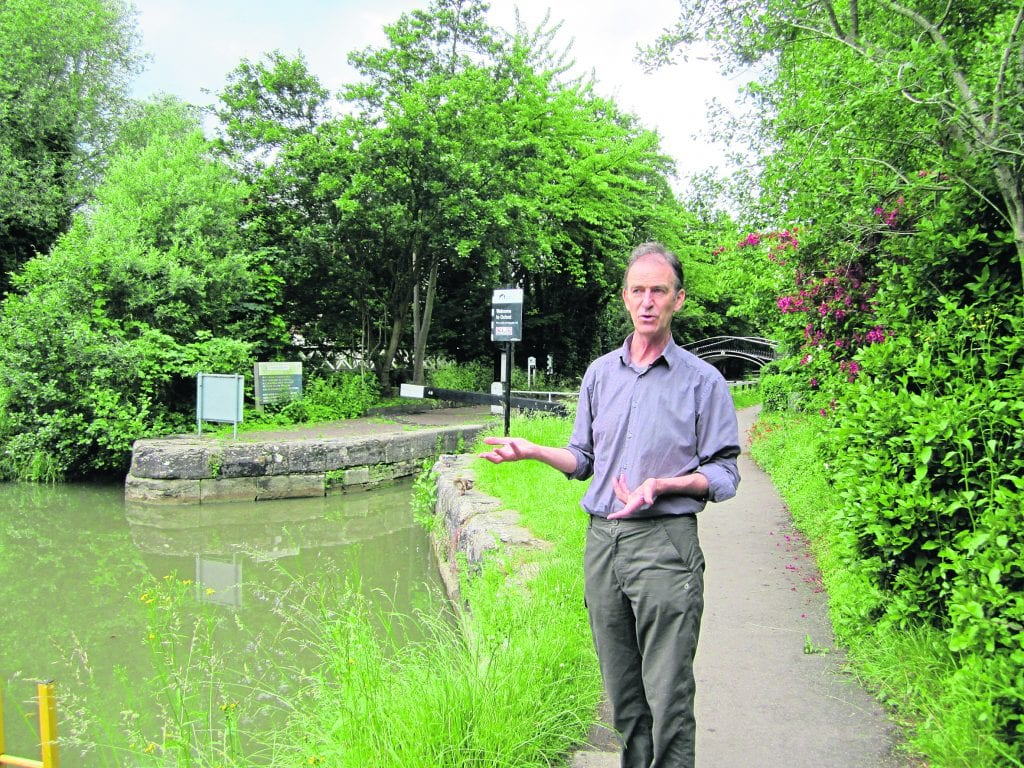 Mark on one of his Oxford Water Walks at Isis Lock
