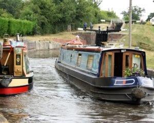 narrowboats at Frankton Lock