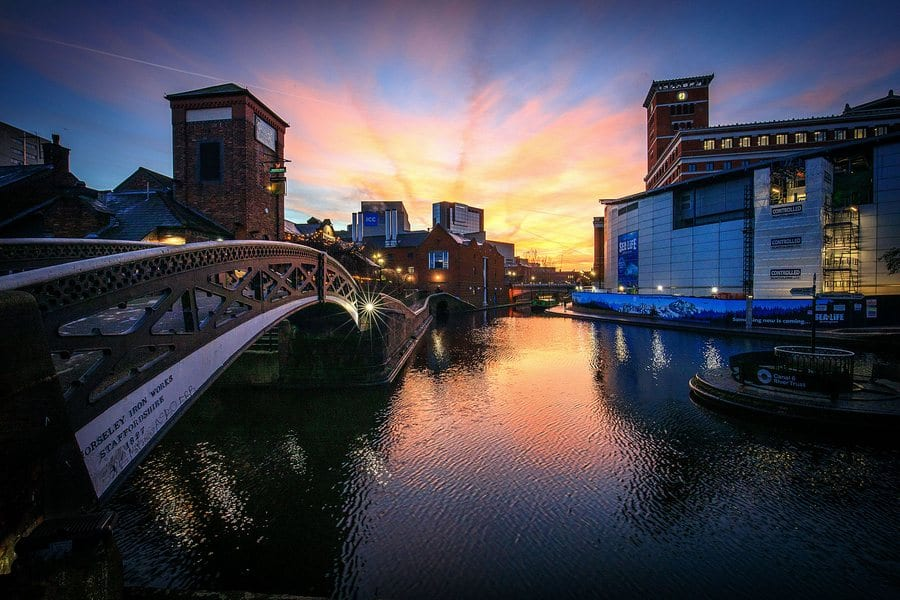 3rd place - Sunrise over Brindleyplace' By Damien Walmsley
