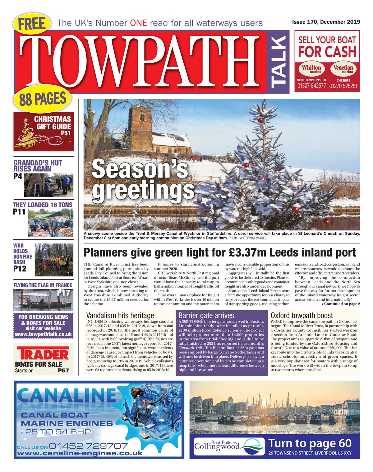 Towpath Talk December cover