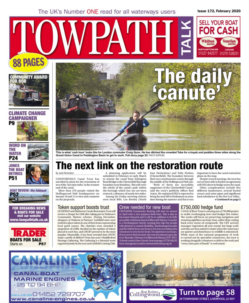 Towpath Talk February cover
