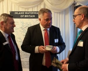 Mike Haig, Simon Baynes and Paul Rodgers chatting at IWA Parliamentary reception