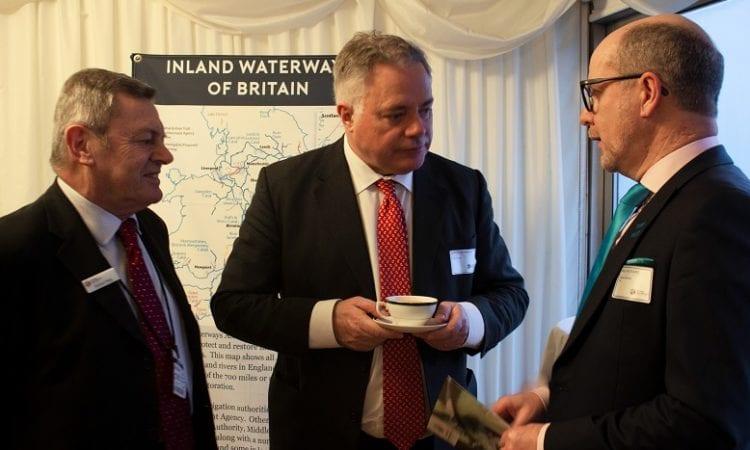 Mike Haig, Simon Baynes and Paul Rodgers chatting at IWA Parliamentary reception