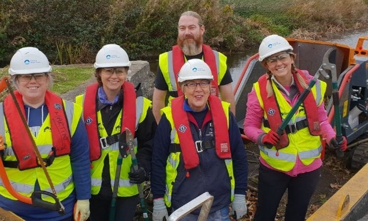 Commended in last year's Living Waterways Awards, The crew of Chesterfield Canal Trust workboat Python