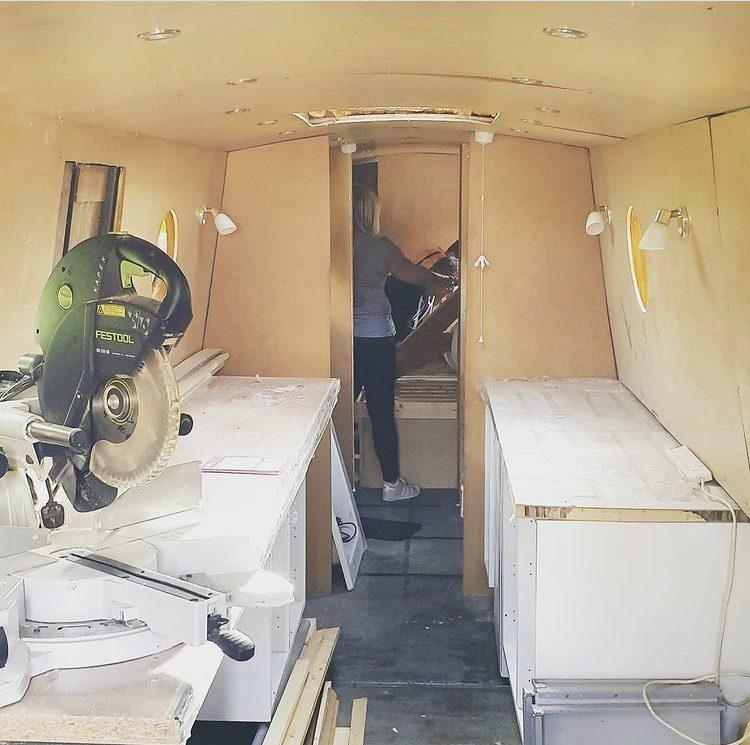 Work commences aboard Solstice