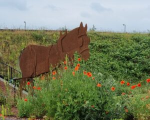 Lichfield canal trust fundraising appeal - metal horse sculpture