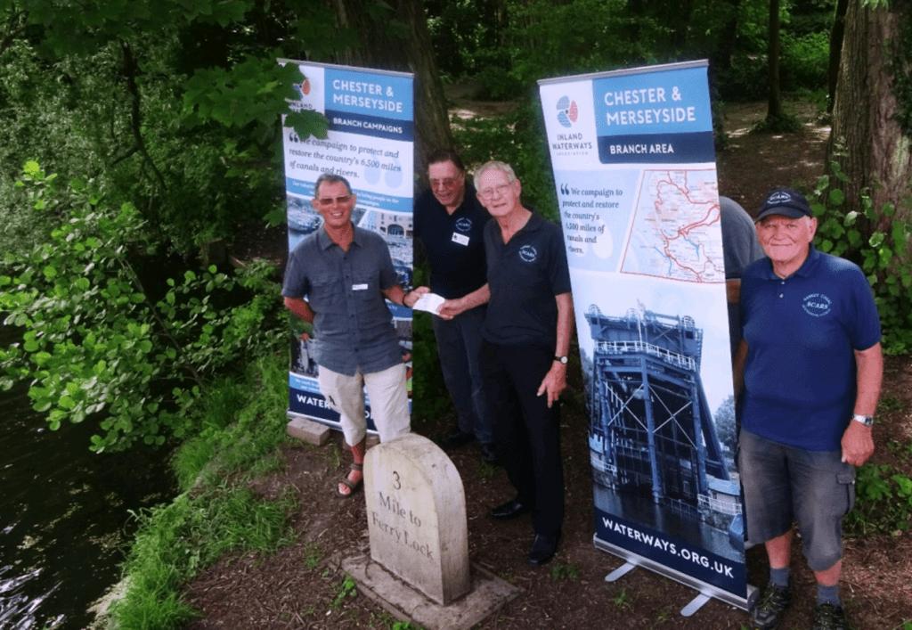 Presenting the IWA sponsorship cheque