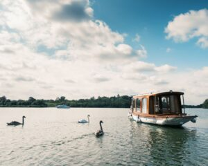 Liana - electric launch on the Broads