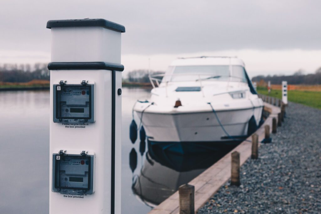 Electric charging points on the Broads