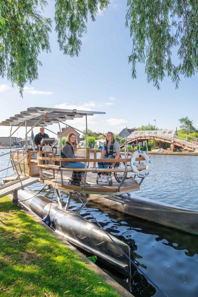 Ra solar-powered boat