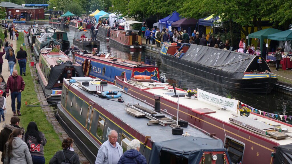 The scene at 2019's Brownhills Canal Festival