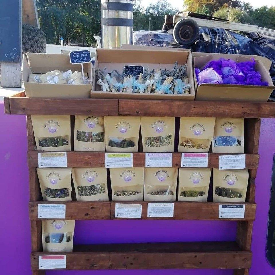 A selection of organic loose teas