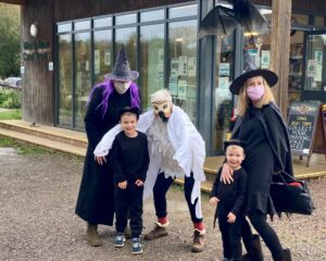 Getting in the Halloween spirit at the Wey & Arun Canal Centre