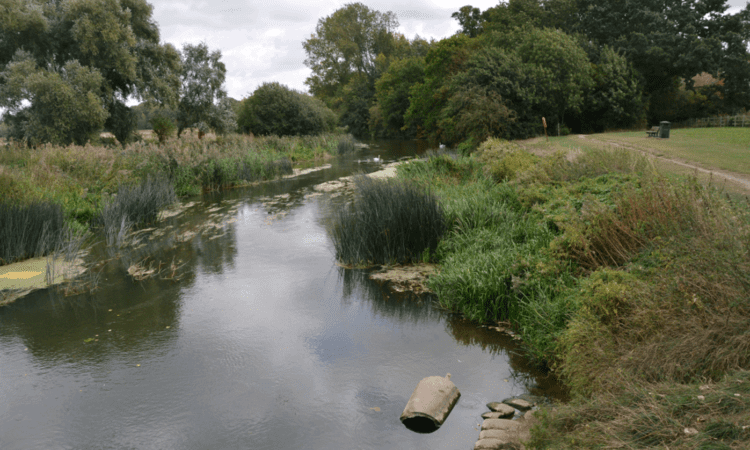 The site of the landing stage at Kempston Mill