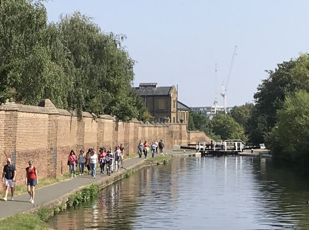 Walking along the Hanwell Flight during the Open House London Festival